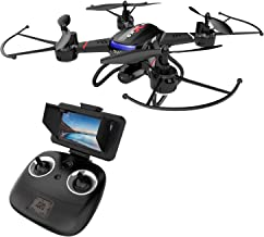 Holy Stone F181G Drone with Camera 5.8G FPV Live Video for Kids Beginners Adults Quadcopter with HD LCD Transmitter, RC Helicopter Airplane with Altitude Hold 3D Flip Headless Mode, Modular Battery