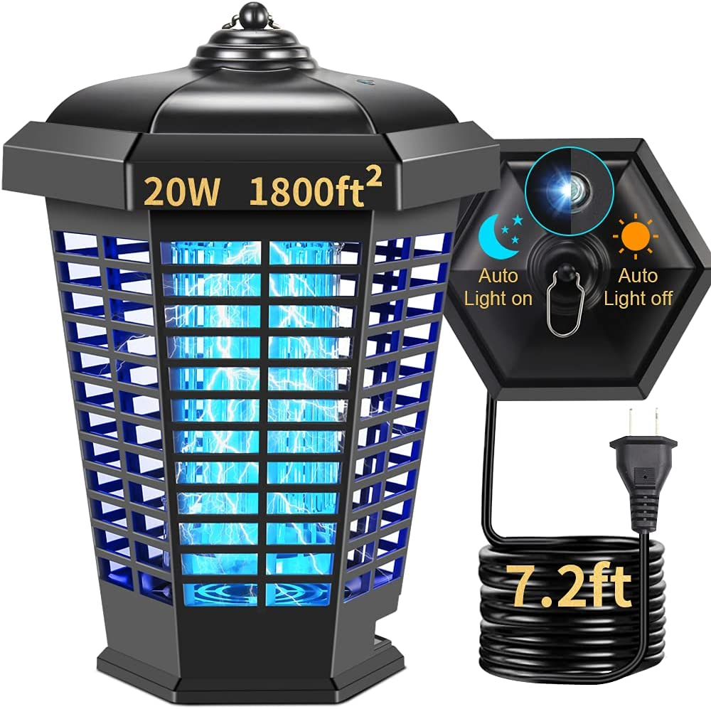 Bug Zapper Outdoor Mosquito Ultra-Cheap Deals 20W Electric 1800ft² Mos Max 40% OFF