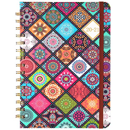"""2021-2022 Planner - Academic Planner/Weekly & Monthly Planner with Flexible Hardcover, Jul 2021 - Jun 2022, 6.4"""" x 8.5"""", Twin- Wire Binding, Premium Thick Paper"""