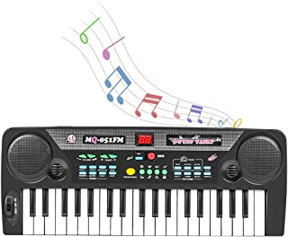 Shayson Keyboard Piano for Kids, 37-Key Keyboard Piano with FM Radio & Microphone, Portable Electronic Keyboard for Musica...