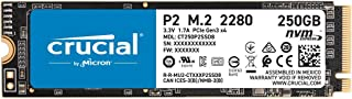 Crucial P2 250GB 3D NAND NVMe PCIe M.2 SSD Up to 2400MB/s - CT250P2SSD8