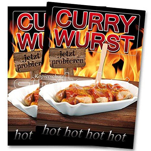 2 x Currywurst Poster / Plakate DIN A1 Werbung für Gastronomie