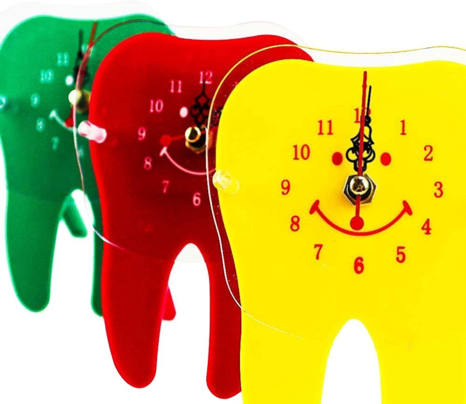 Earlywish Desk Table Clock Tooth Molar Shape Dental Dentistry Office Doctor Decoration  3 color