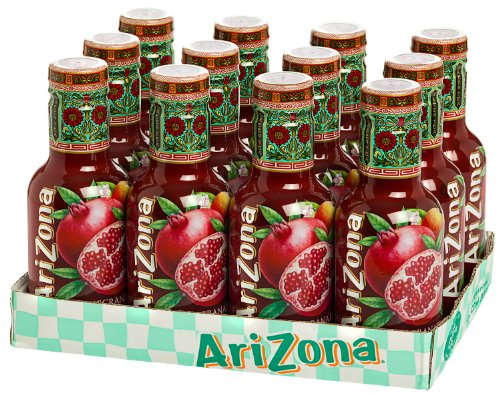 12 Flaschen Arizona Pomegranate Green Tea Pet inc. 3.00€ EINWEG Pfand