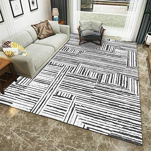 Modernas Diseño Geométrico gris Alfombra Silla Gaming Alfombra Cuarto Alfombras Para Dormitorios Alfombra de dormitorio moderno,sofá,mesa de café,pasillo,alfombra de juego para niños 120×160CM