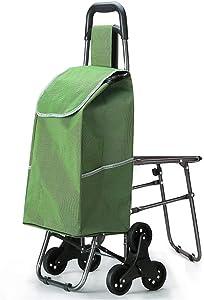 Anah Folding Shopping Cart-Stair Climbing Cart- Transit Utility Cart-Durable Folding Design for Easy Storage