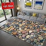 Teppich 3D Steinmuster Kinderteppiche Schadstoff geprüft 8 Stück Antirutschmatte für Teppich 7 Farben und 151 Grössen, 140x240cm