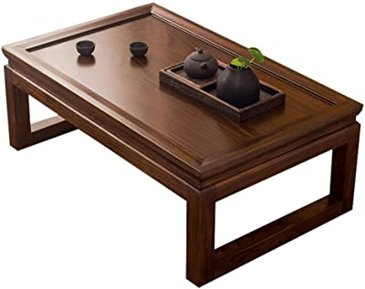 Living Room Short Coffee Table Wooden Table Balcony Tea Table Laptop Table Breakfast Table (Color : A, Size : 80x50x30cm)