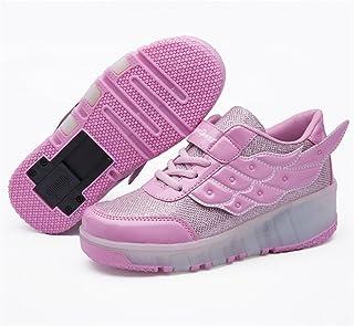 斯太勒 单轮暴走鞋男童女童闪灯滑轮鞋儿童翅膀LED灯鞋童鞋轱辘鞋 DBL-586