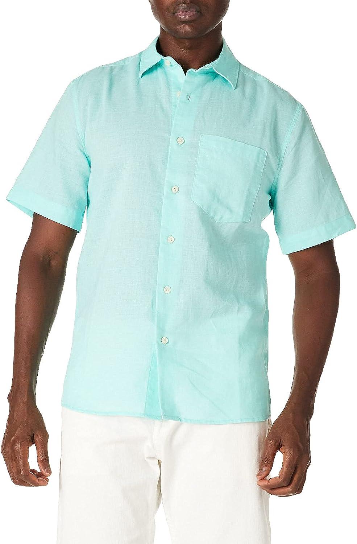 Isle Bay Linens Men's Standard Fit Cot Short Casual Ramie Sleeve Bargain Ranking TOP4 sale