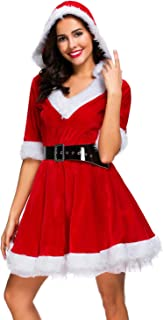Christmas Women Costume Sexy Outfit Dress Santa Claus Cosplay Clothing