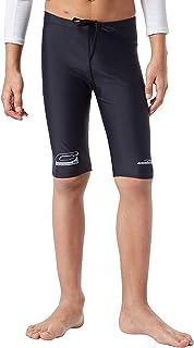 COOLOMG Boys Jammer Sport Board Shorts Swimsuit Bottom Skinny Rash Guard Swim Shorts Black M