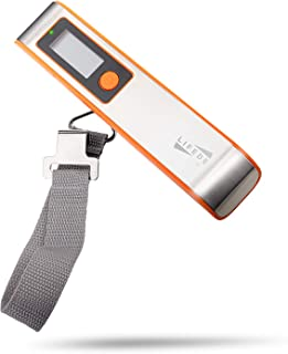 Lifede 110lbs Digital Luggage Scale, Stainless Steel and ABS, Gift for Traveler, Orange.