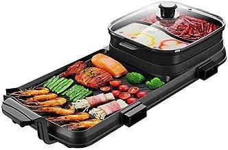 AJH Pot Chaud de Barbecue Multifonction, Pot Chaud de séparation portatif à Double saveur, Appareil de Cuisine Multifonction