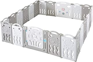 Albott Baby Playpen 22 Panel Foldable Baby playpen Folding Play Pen Kids Activity Centre Safety Play Yard Home Adjustable ...