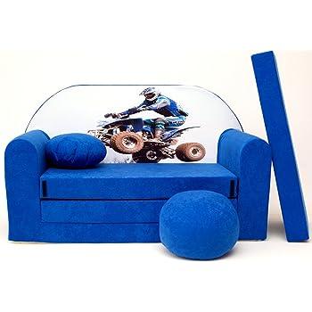 Welox Kindersofa Spielsofa Minicouch Aus Schaum Kindersessel Kissen Matratze Farbwahl C26 Amazon De Baby