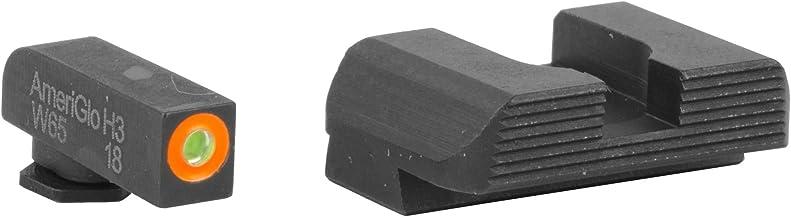 AmeriGlo GL-436 Hackathorn Sight Set for Glock 42/43, Green/Orange