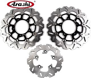 Arashi Front Rear Brake Disc Rotors for SUZUKI GSXR 750 2006 2007 Motorcycle Replacement Accessories GSX-R750 R600 R1000 750 1000 GSXR750 Black 06 07