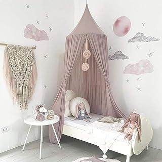 46f594f24cd3a Dyna-living Ciels De Lit à baldaquin en coton Dôme château Tente de Jeu  Lecture