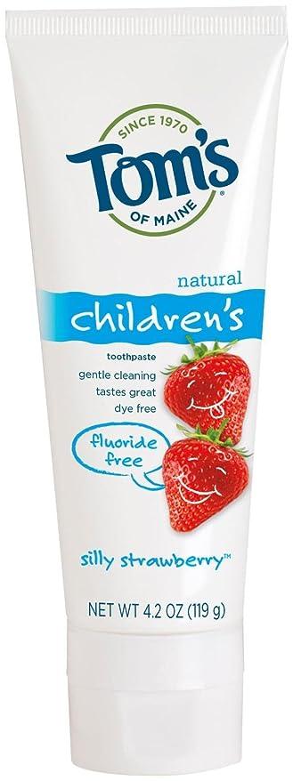 小説著者添付Toms of Maine Toothpaste-Children's Fluoride Free-Strawberry - 4.2 Oz - Paste (並行輸入品)