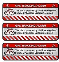 WZZA ステッカー自転車オートバイ車警報警告盗難防止ステッカー防水反射デカールアクセサリー、7CMX2CM (Color Name : Reflective)