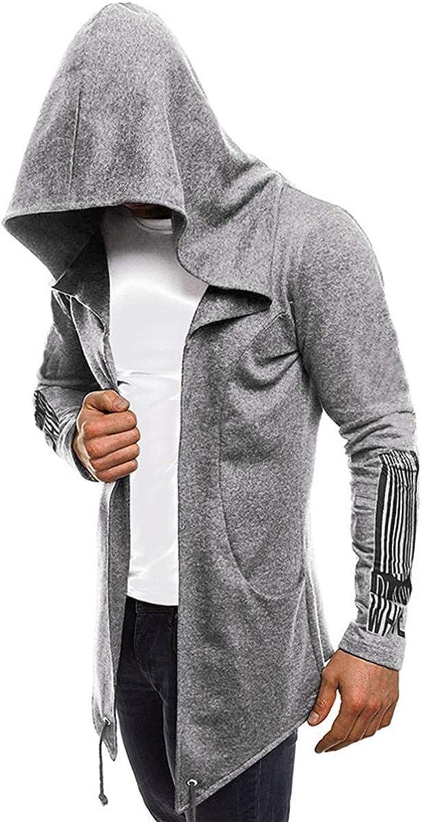 Seidarise Men's Cardigan Sweaters Long Cardigan Shawl Hooded Knit Longline