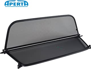 Aperta Black winddeflector Compatible with BMW 1 Series E88 | Tailor Made Windblocker | Windstopper BMW Convertible