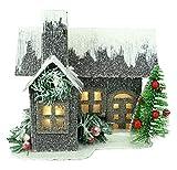 Christmas Concepts® 19cm (7') LED Iluminar Casa de Cartón Corrugado - Decoraciones de Navidad - Ornamentos Tradicionales de Navidad
