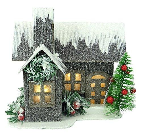 """Christmas Concepts® 19cm (7\"""") LED Iluminar Casa de Cartón Corrugado - Decoraciones de Navidad - Ornamentos Tradicionales de Navidad"""