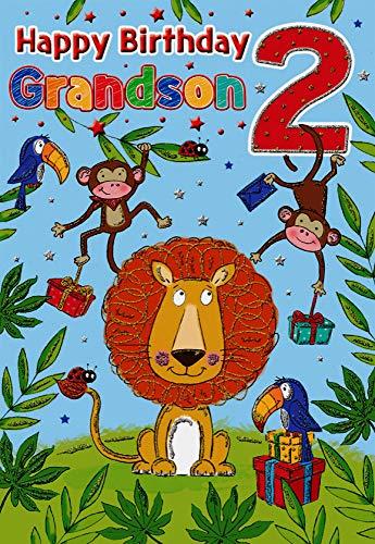 Milestone - Tarjeta de cumpleaños para nieto de 2 años, 23 x 15 cm, Regal Publishing