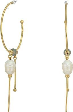 12K Soft Polish Gold/Labdradorite/Ivory Pearl