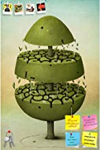 ArtzFolio Spring Holiday Tree in The Form of Easter Eggs Printed Frameless Bulletin Board Notice Pin Board 12 X 18.1Inch