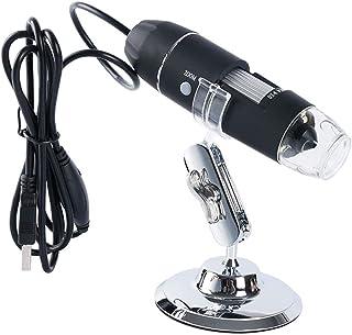 Gojiny 8 led microscopio Digital USB endoscopio de Aumento 1600x Mini cámara endoscópica de Mano con Soporte de Metal Compatible con iPhone iPad Mac Ventana Android