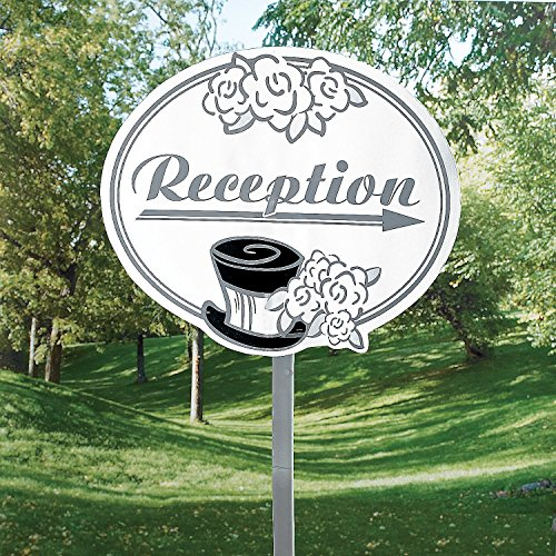 Fun Express - Wedding Reception Yard Sign