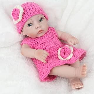 bromrefulgenc Reborn Baby Doll,Lifelike Realistic Newborn Baby,Simulation Silicone Newborn Baby Reborn Doll Bathing Sleeping Toy Kids Gift - Pink