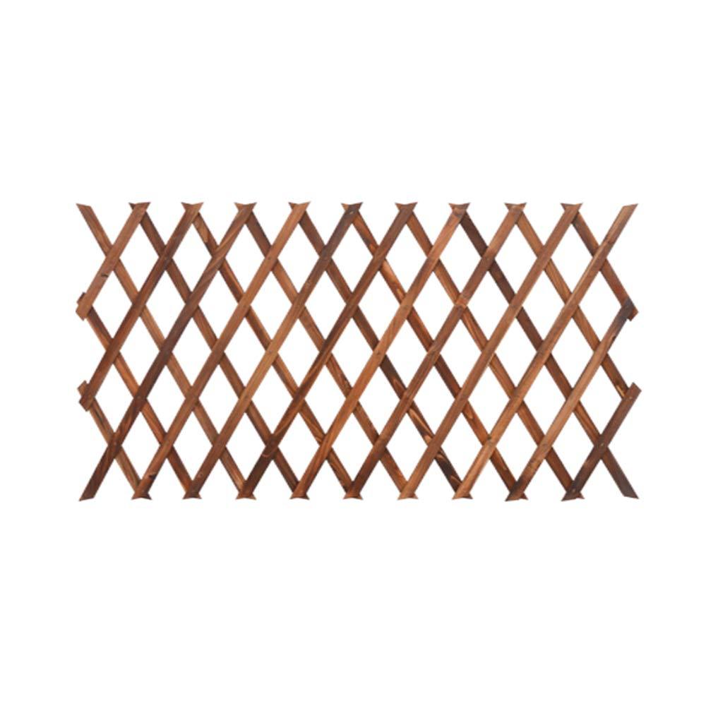 Youmu madera pared enrejado expansión jardín flor planta escalada valla marrón 150 cmx30 cm, 1pz: Amazon.es: Jardín