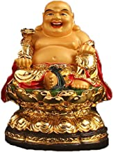 ZGPTX The Little Statue of The Milosa Smiles Buddha Like A Milford Cloth Bag and A Monk Resin Crafts Auspicious Pendulum