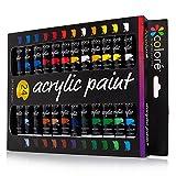 Set de Pinturas Acrílicas Colore – Perfecto para pintar en canvas, arcilla, tejidos,...