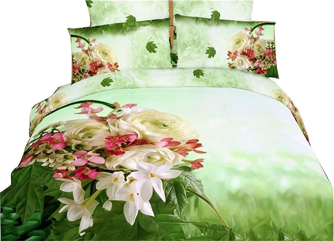 シーボード腸時間JINFUホームテキスタイル3d寝具セット、花、特別な寝具セット、クイーンサイズ、4ピース