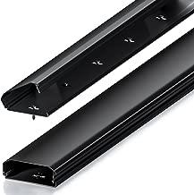 deleyCON Canaleta Universal para Cables y Líneas Aluminio de Primera Calidad Longitud 100cm Ancho 6cm Altura 2cm - Negro