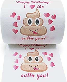 Mimgo-shop Happy Birthday Novelty Toilet Paper Gag Gift, Funny Prank Birthday Present for Him or Her
