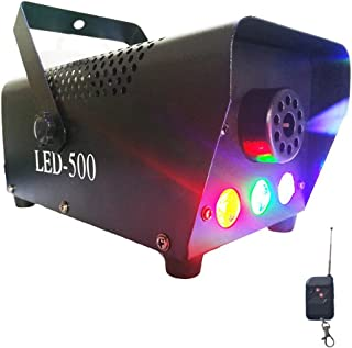 Professional Haze Fog Machine Easife 400W Wireless Remote Control with Lights LED Cold Smoke Maker Chiller Portable Fog Generator System with LED Colorful Smoke Fog Ejector for Stage Party Club Bar