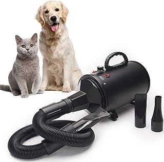 Secador de mascotas Secador Perro Fuerza De Bañeras Para Perros Preparación De Mascotas Para Perros De Alta Velocidad Secador Soplador Ajuste Libre De La Energía Eólica 2 Ajustes De Temperatura 3 Boqu