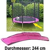 Carparts-Online 28323 Sicherheits Schutz Rand Abdeckung für Trampolin Sprungfedern 244 CM pink