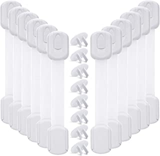 Baby Proofing Cabinet Strap Locks - Vkania 20 Pcs Kids Proof Kit - Child Safety Drawer Cupboard Oven Refrigerator Adhesive...