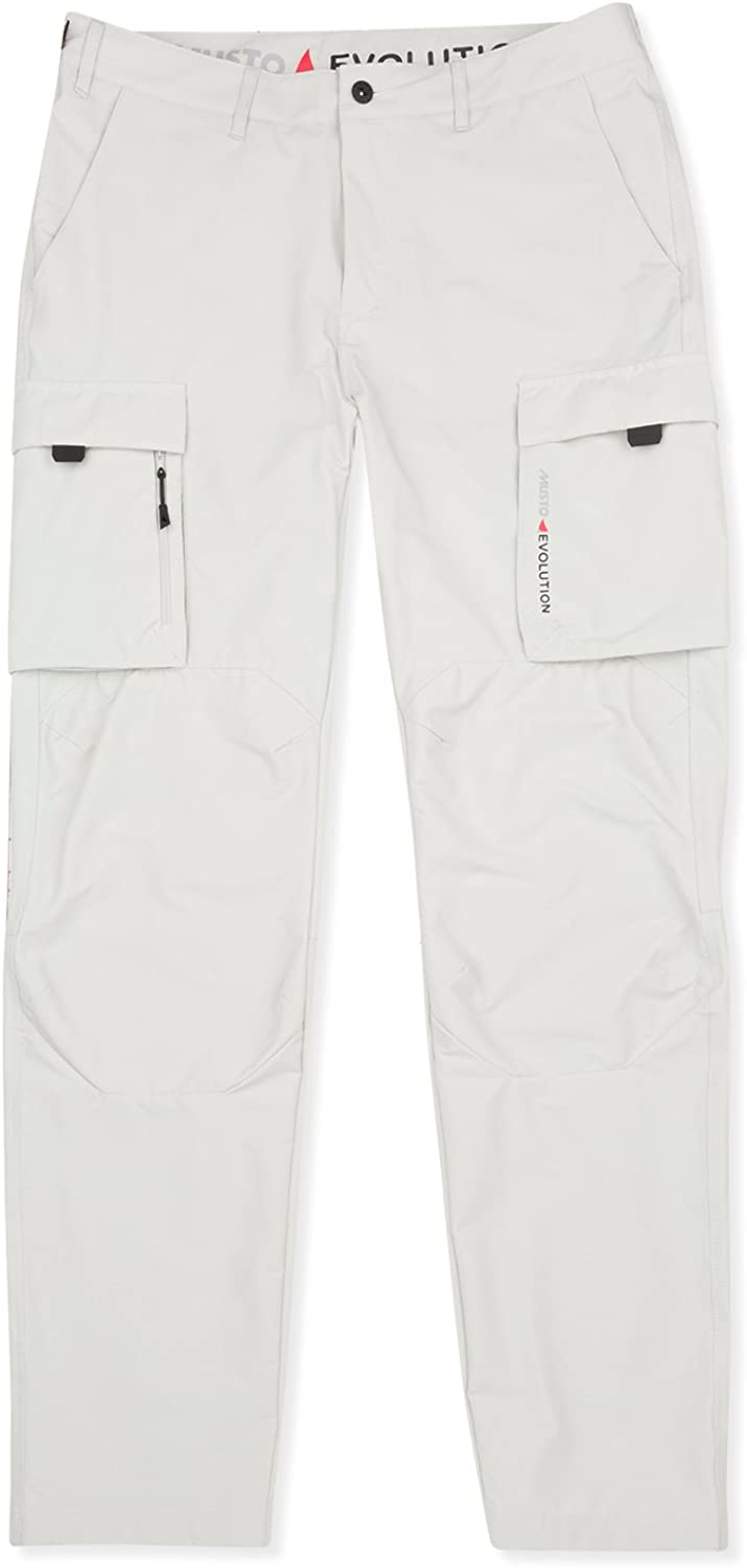 Musto Mens Deck Sailing UV Fast Dry Trousers PlatinumEasy Stretch UV Sun Predection and SPF Properties