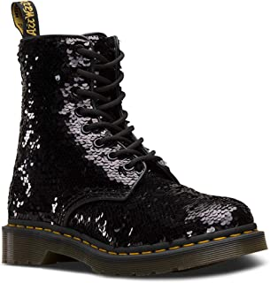 Dr. Martens 1460 Pascal Sequin Womens Black/Silver Boots-UK 6 / EU 39