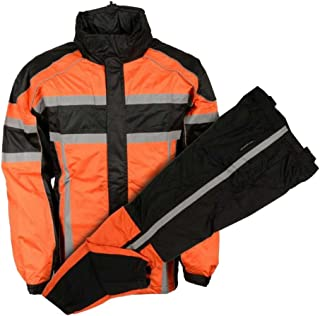 Nexgen Men's Nex Gen Mens Orange/Blk/Motorcycle Rain Suit Water Resistant