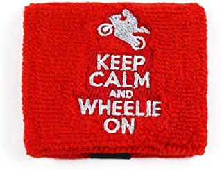 Keep Calm Wheelie On Rear Brake or Clutch Reservoir Covers by Reservoir Socks for Motorcycles, Sportbikes