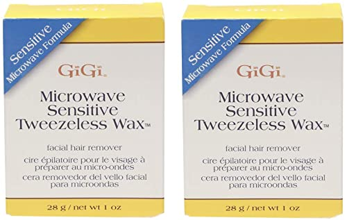 wholesale GiGi Sensitive Tweezeless Microwave Facial Hair Removal outlet sale Wax, 2021 1 oz x 2 pack outlet sale